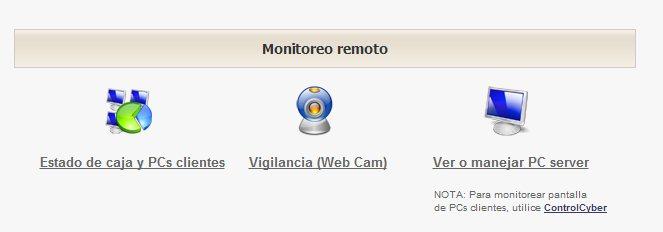 Monitoreo Remoto. Clic para amplir.
